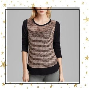 Splendid Black sweater fireside knit Colorblock C5